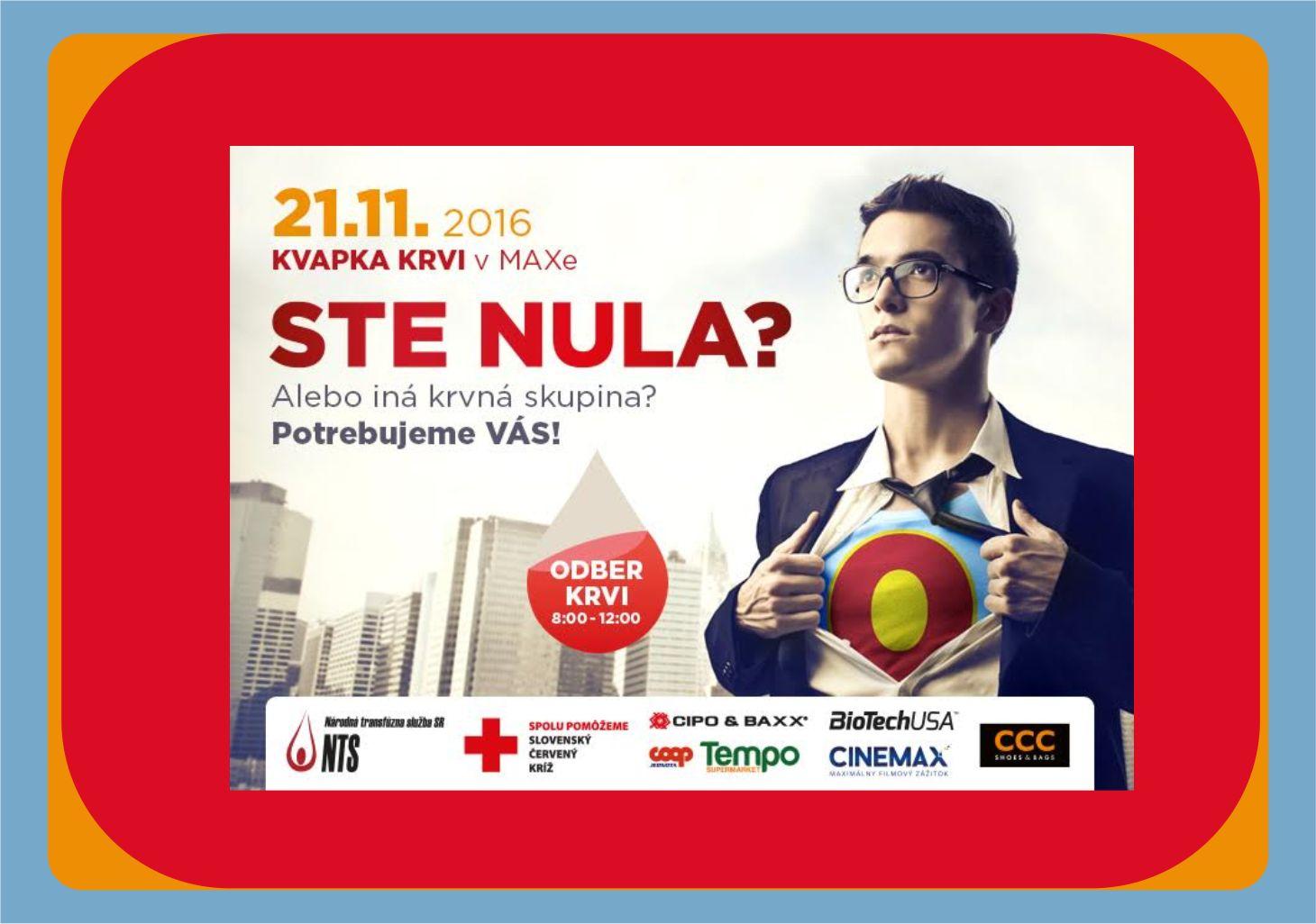 11a038afc Kvapka krvi v MAXe - Kam v meste | moja Nitra